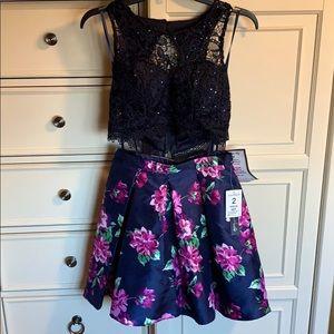 Juniors 2 piece party dress